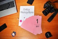 Het werk lopende fotograaf Royalty-vrije Stock Foto's