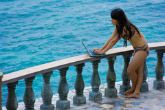 Het werk overal in paradijs Stock Foto's