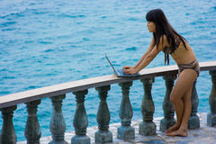 Het werk overal in paradijs Royalty-vrije Stock Fotografie