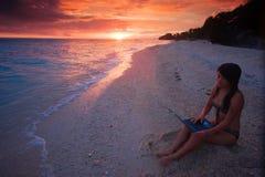Het werk overal in paradijs Stock Foto