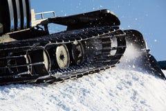 Het werk Piste machine (sneeuwkat) detail Royalty-vrije Stock Afbeelding
