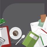 Het werk ruimte thuis Royalty-vrije Stock Afbeeldingen