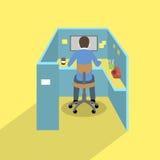 Het werk ruimte voor creatieve arbeider Royalty-vrije Stock Fotografie