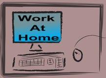 Het werk thuis royalty-vrije illustratie