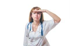 Het werk van artsencontroles Royalty-vrije Stock Afbeeldingen