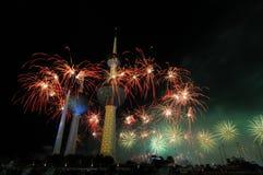 Het werk van de Brand van de Torens van Koeweit Stock Fotografie