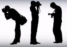 Het werk van de fotograaf stock illustratie