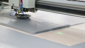 Het werk van een textielfabriek stock footage