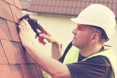 Het Werk van het dakwerk stock fotografie