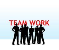 Het werk van het team Stock Foto