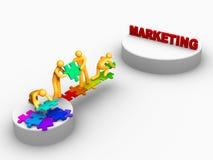 Het werk van het team voor Marketing royalty-vrije illustratie