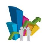 Het werk van het team in zaken Stock Foto
