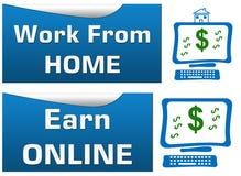 Het werk van Huis verdient online Stock Afbeelding