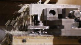 Het werk van moderne programmeerbare machine stock footage