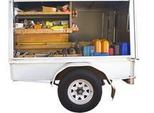 Het werkaanhangwagen Royalty-vrije Stock Afbeeldingen
