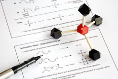 Het werken aan de Organische Chemie Stock Afbeelding