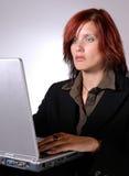 Het werken aan laptop II Stock Fotografie