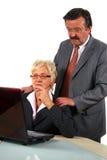 Het werken Hogere Businessteam stock afbeeldingen
