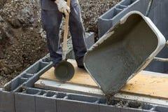Het werken met beton Royalty-vrije Stock Foto