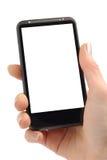 Het werken met Smartphone Stock Fotografie