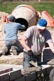 Het werken van bouwers Stock Fotografie
