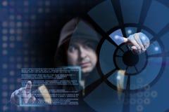 Het werken van de hakker Stock Fotografie