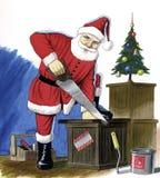 Het werken van de Kerstman Royalty-vrije Stock Afbeelding