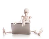 Het werken van het skelet Stock Fotografie