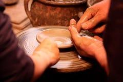 Het werken van pottenbakkers Royalty-vrije Stock Afbeeldingen