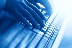 Het werkhand van het toetsenbord royalty-vrije stock afbeelding