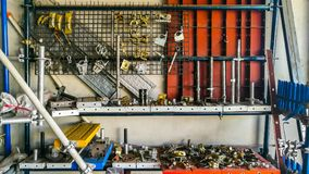 Het werkhulpmiddel, Hamer, Werktuig, Heerser, Metaal royalty-vrije stock afbeeldingen