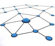 Het werknetwerk van het team Stock Afbeeldingen
