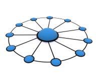 Het werknetwerk van het team Stock Afbeelding