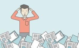 Het werkoverbelasting royalty-vrije illustratie