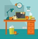 Het werkplaats op vakantie Halloween stock illustratie