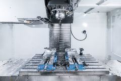 Het werkruimte van moderne CNC malenmachine Stock Fotografie