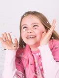 Het werpen van confettien Royalty-vrije Stock Afbeelding