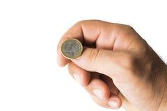 Het werpen van een muntstuk royalty-vrije stock afbeeldingen