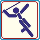 Het werpen van een spear symbool voor download De vectorpictogrammen drukken projecten Royalty-vrije Stock Foto's