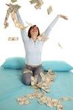 Het werpen van geldlucht royalty-vrije stock afbeelding