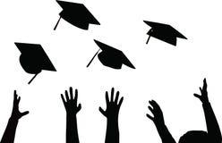 Het werpen van Graduatie GLB - Zwarte Baret Royalty-vrije Stock Foto