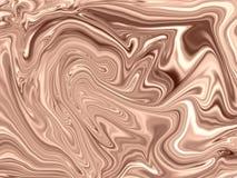 Het wervelen vloeibaar lichtbruin en roompatroon die zich voor hete smeltingschocolade mengen royalty-vrije illustratie
