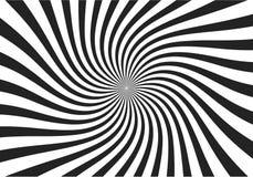 Het wervelende radiale patroon speelt achtergrond mee Vierkant van de draaikolk starburst het spiraalvormige draai De stralen van vector illustratie