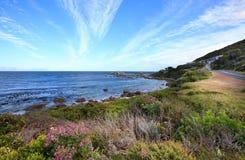 Het westelijke landschap van de Kaap vóór zonsondergang Royalty-vrije Stock Afbeeldingen