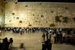 Het westelijke Muur ook het geweten als Loeien Muur of Kotel in Jeruzalem, Israël stock afbeelding