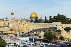 Het westelijke Muurplein, de Tempel zet, Jeruzalem op Stock Foto's