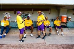 Het westen alle-Sterren, Jeffrey Osborne Foundation Celebrity Softball-Spel Stock Afbeelding