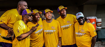 Het westen alle-Sterren, Jeffrey Osborne Foundation Celebrity Softball-Spel Stock Foto