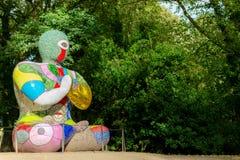 HET WESTEN BRETTON, HET UK - 30TH SEPTEMBER 2018: Beeldhouwwerken van het Beeldhouwwerkpark van Yorkshire stock fotografie