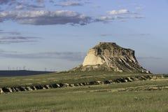 Het westen en van het Oosten Butte van Pawnee in het Noorden - oostelijk Colorado Royalty-vrije Stock Afbeeldingen